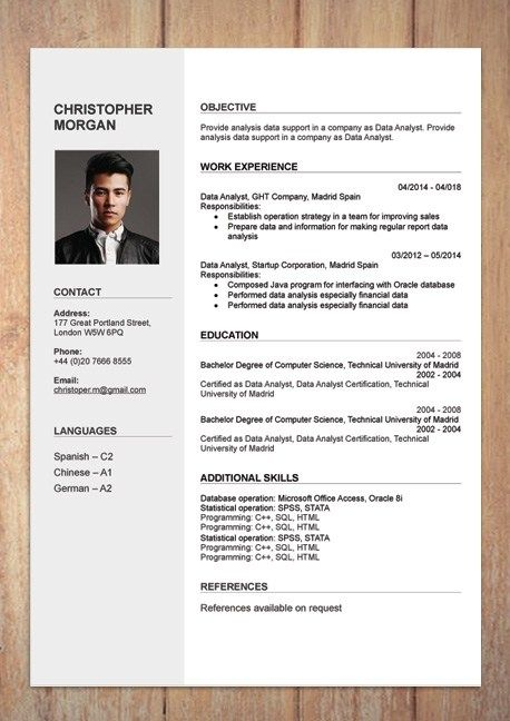 Cv Resume Templates Examples Doc Word Download Resume Template Examples Cv Template Download Cv Template Free