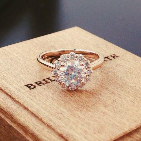 Romance in rose gold.