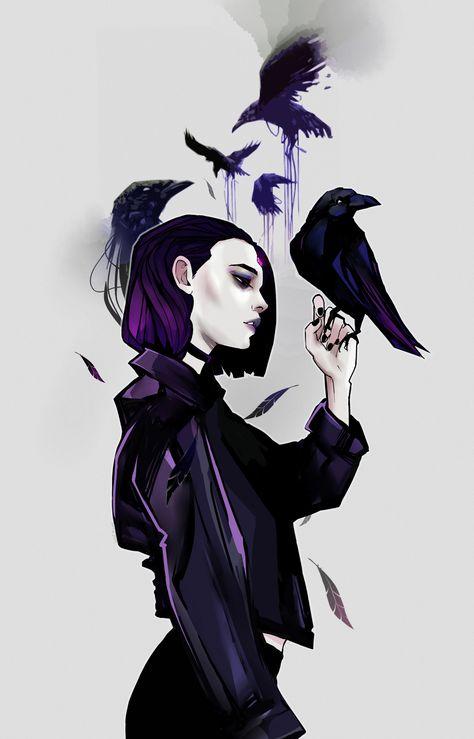 "Quoth the Raven ""Nevermore."" — wolf-fram: You will know you're reborn tonight Teen Titans Love, Teen Titans Fanart, Raven Comics, Arte Dc Comics, Raven Fanart, Memes Arte, Raven Beast Boy, Beautiful Dark Art, Quoth The Raven"