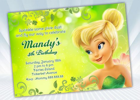 List Of Pinterest Tinkerbell Invitations Template Free Printable