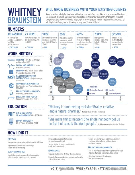 Anatomy Of A Great Infographic Resume Infographic Resume Marketing Resume Project Manager Resume
