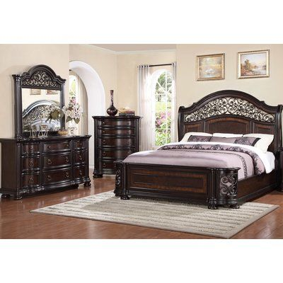 Fleur De Lis Living Winkelman Queen Panel 4 Piece Bedroom Set