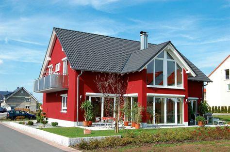 Beispiele für Fassadenfarben Fassadenfarbe, Rot und Innovativ - fassadenfarbe beispiele