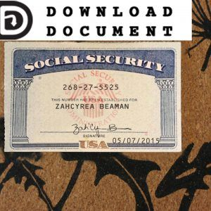 Social Security Card Ssn Download In 2020 Social Security Card Social Card Template