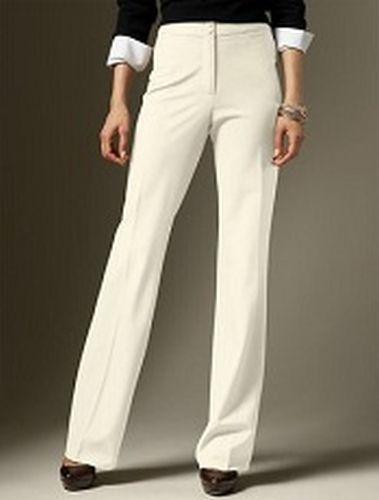 NWT Talbots Heritage Ivory Italian Marzotto Wool Dress Pants Plus Size 22WP $129 #Talbots #DressPants