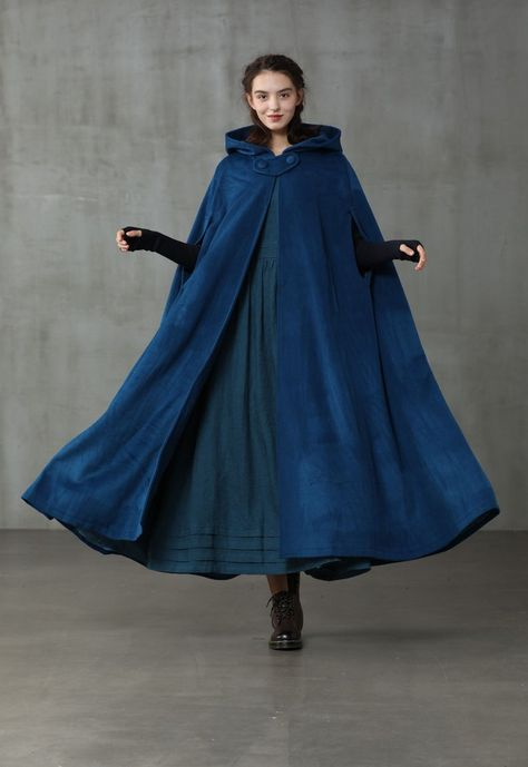 Cashmere Cape, Cashmere Fabric, Black Winter Coat, Winter Cape, Winter Cloak, Hooded Wool Coat, Maxi Coat, Dress Backs, Hoods