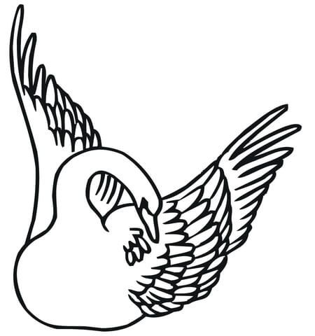 Swan Coloring Page Coloring Page Pinterest