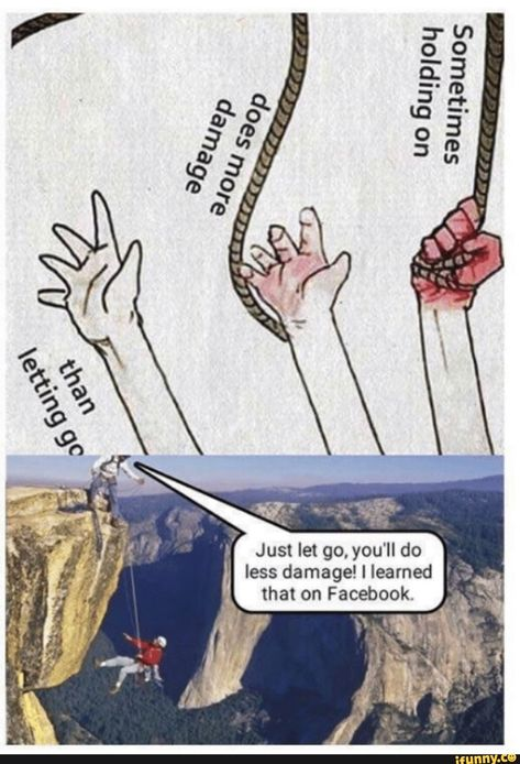 Just let go, you'll do less damage!llearned ' that on Facebook. – popular memes on the site iFunny.co #facebook #internet #sbeve #she #believed #he #lied #just #let #go #youll #do #less #facebook #pic