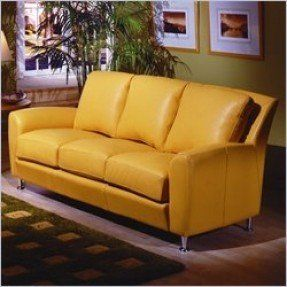 Yellow Leather Sofas Foter With Images