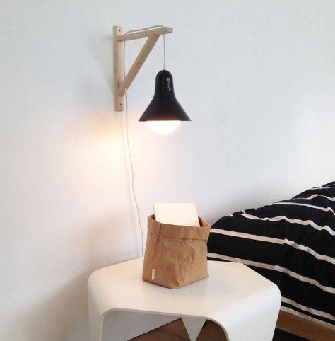 Ikea DIY idea: Lisabell pendant lamp with wallmounted wooden