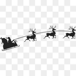 Christmas Santa Claus Reindeer Sketch Christmas Vector Silhouette Vector Silhouette Christmas Silhouette Silhouette Vector