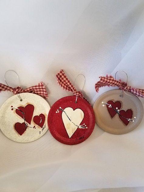 Heart jar lid ornaments