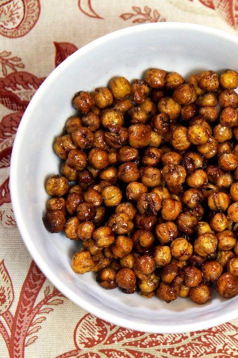 Honey-roasted cinnamon chickpeas. Love this recipe!