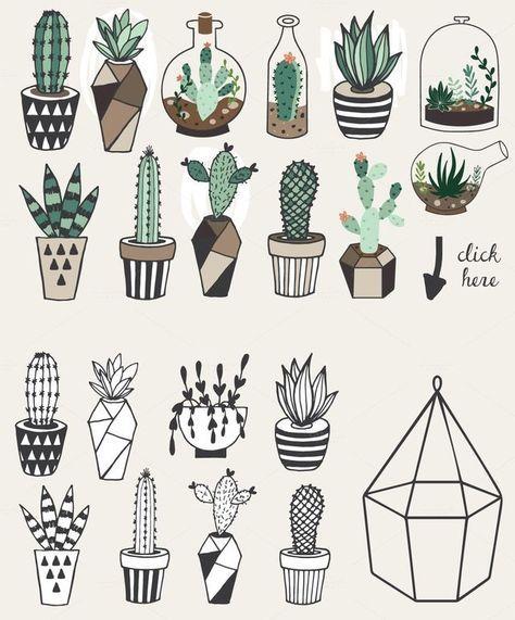 62 Ideas For Plants Doodle Monstera En 2020