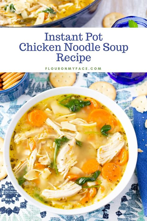 Instant Pot Chicken Noodle Soup - Hearty & Delicious