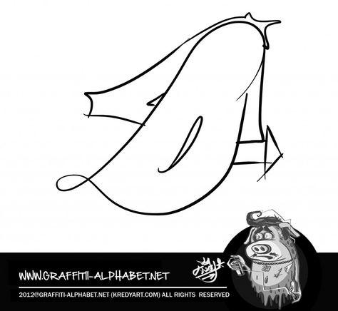 Graffiti letter Alphabet http://graffitialphabet.eu/graffiti-letter-alphabet-3/
