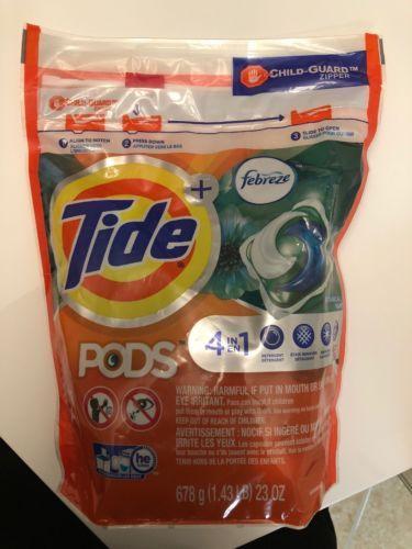 Detergents 78691 Tide Pods Febreze Botanical Rain 23 Pack Buy
