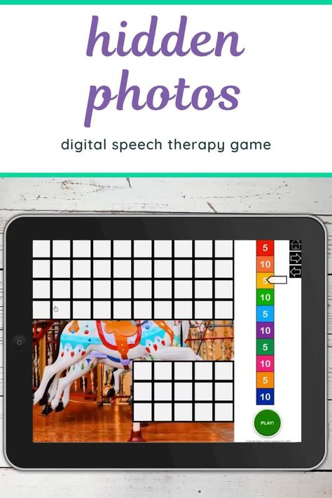 Fair Photos 100 Trials No Print Hidden Images Game For Speech And Articulation Worksheets & Teac