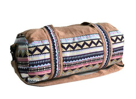 Hippy Festival Duffel Bag Indie Fashion Purse Aztec