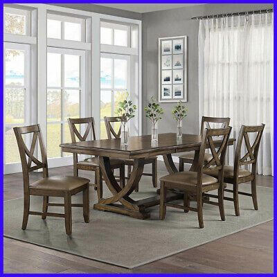 Details About Lakemont 7 Piece Dining Set Dining Room Furniture