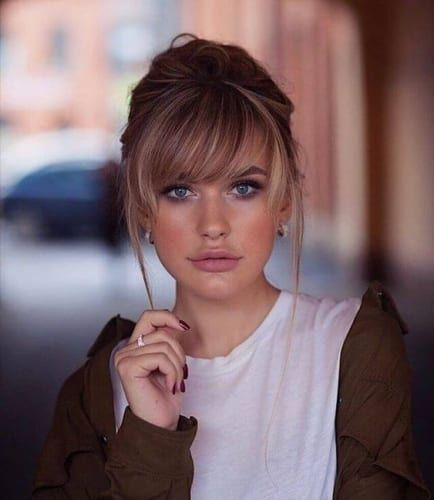 The 20 Different Types Of Bangs Which One Will You Pick My New Hairstyles Long Hair With Bangs Medium Length Hair Styles Hair Styles