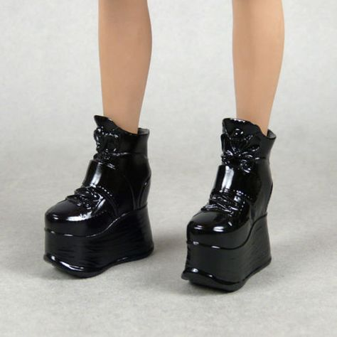 """1//6 Women Leather Ankle Boots For 12/"""" Phicen Hot Toys Kumik Female Figure USA"""