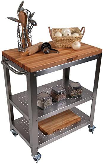 John Boos Cucina Americana Culinarte Kitchen Cart With Wood Top In 2020 Kitchen Cart Wooden Kitchen Table Kitchen Table Settings