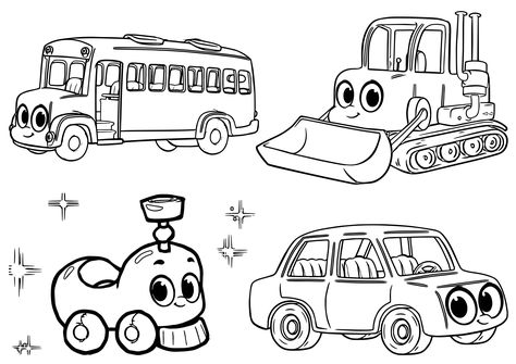 Morphle My Cute Coloring Pages Mophle My Cute Cars And Vehicle