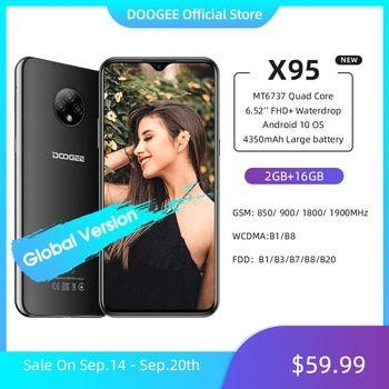 Doogee X95 Cellphones 6 52mtk6737 16gb Rom Dual Sim 13mp Triple Camera 4350mah Smartphones Mobile Phone Android 10 Os 4g Lte In 2020 Dual Sim 16gb 4g Lte