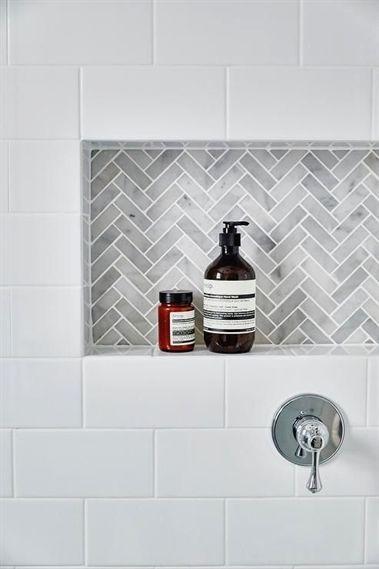 tile shower niche bathrooms remodel