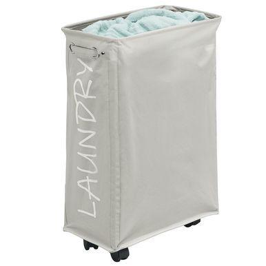 Folding Fabric Drawstring Laundry Hamper With Wheels Laundry