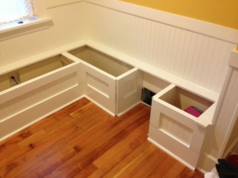 Diy Custom Kitchen Nook Storage Benches Impatiently Crafty