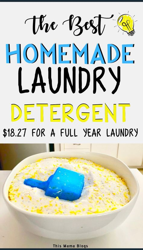 This best homemade laundry detergent recipe is super simple to make and saves us a lot of money per year. Laundry Detergent Recipe, Powder Laundry Detergent, Homemade Laundry Detergent, Laundry Powder, Laundry Room, Diy Soap Laundry, Best Natural Laundry Detergent, Eco Friendly Laundry Detergent, Tips And Tricks