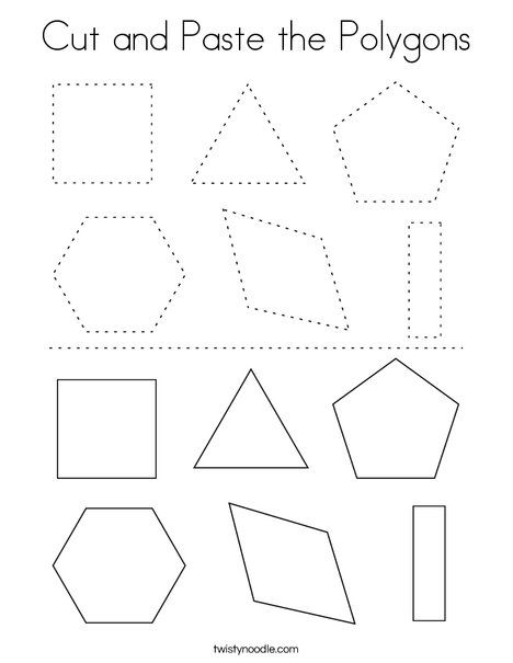 Pin On Shape Mini Books Worksheets And Coloring Pages Preschool shape cutting worksheets