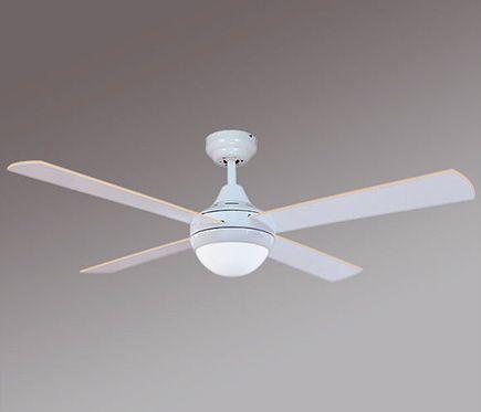 Ventilador de techo con luz Sulion Cross 122 cm Blanco AC
