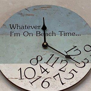 Whatever I M On Beach Time Clock Whatever Wall Clock Etsy Beach Time Clock Clock Time Clock