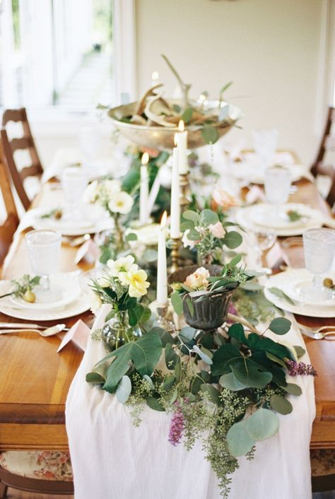 Watercolor French Provincial wedding inspiration #tablescape | Photo by Live View Studios