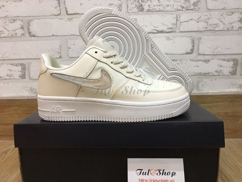 Giày Nike Air Force 1 White Cream Trắng Kem Nữ Replica