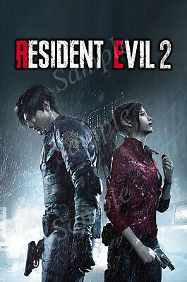 Details About Rgc Huge Poster Resident Evil 2 Remake Ps4 Xbox