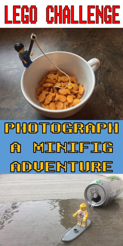 Lego Challenge–Minifig Adventure Photos – The Lego Librarian Lego Activities, Lego Games, Lego Toys, Scout Activities, Family Activities, Toddler Activities, Lego Challenge, Lego Club, Lego Craft