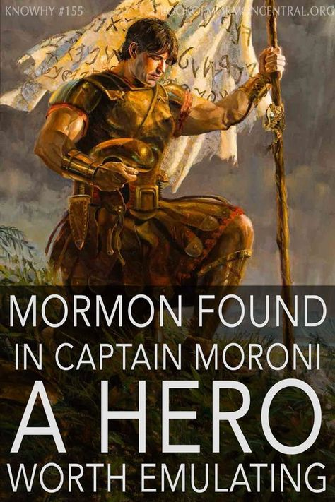 Why Did Mormon See Captain Moroni as a Hero? Book Of Mormon Prophets, Book Of Mormon Stories, Lds Quotes, Lds Memes, Goal Quotes, Lds Books, Lds Scriptures, Lds Church, Church Ideas