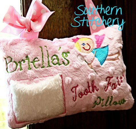 Tooth fairy pillow personalized Pillow  Princess Girl tooth fairy pillow   Personalized gift girl tooth pillow  Chenille fabric  fairy pillo
