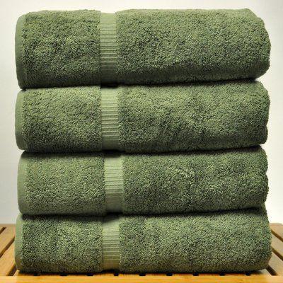 The Twillery Co 4 Piece 100 Cotton Bath Towel Set Bath Towels Green Bath Towels Cotton Bath Towels
