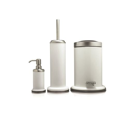 Sealskin 3 Piece Bathroom Accessories Set Acero White Metal