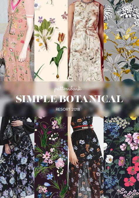 Patternbank bring you the strongest print and pattern trends seen at the recent Resort 2018 collections. A bold mixture of bright vintage inspired florals and Pattern Trend Trend Trends