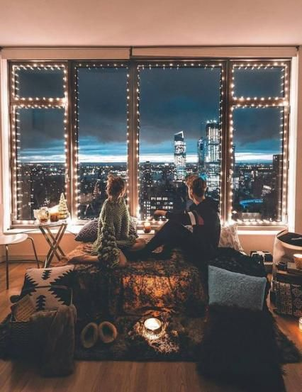 Trendy Apartment City View Night Window Ideas Apartment City View Night Apartment Decorating For Couples Couples Apartment