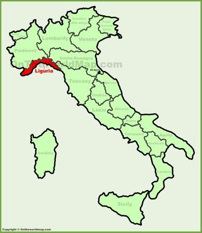 Liguria Location Map Verona Map