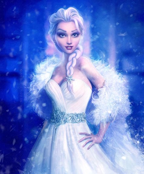 """littlewhiteorchid: """" Elsa, Frozen by Joe-Roberts Permission was given to me to post this. Please do not remove links. Thank you~ """""""