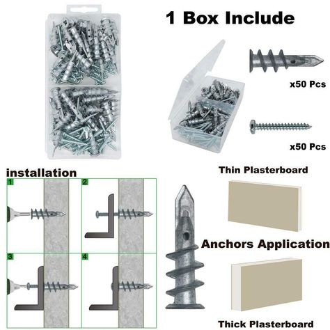 Fix It 8 Tap N Lock Drywall Anchor 4 Pieces In 2019 Products Drywall Anchors Drywall Anchor