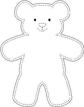 Beispiel Teddybar Vorlage Beispielteddybarvorlage In 2020 Teddy Bear Sewing Pattern Teddy Bear Template Teddy Bear Pattern